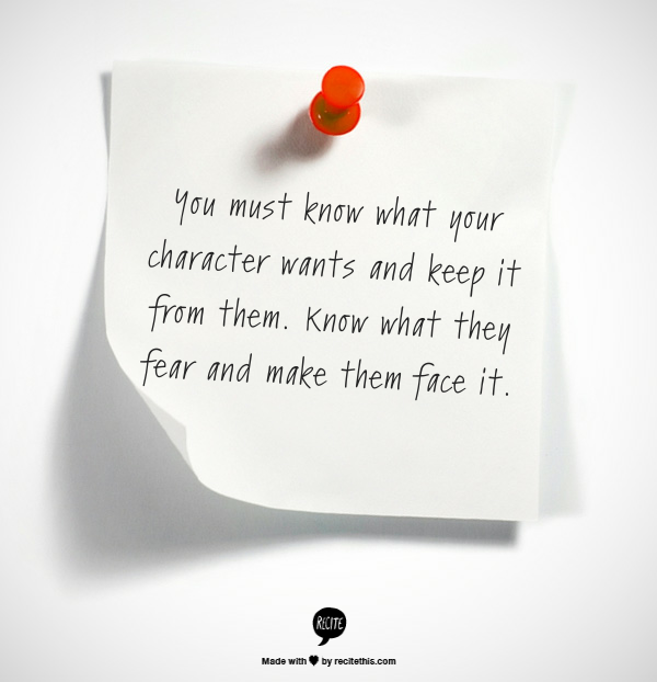 Character Fear Quote