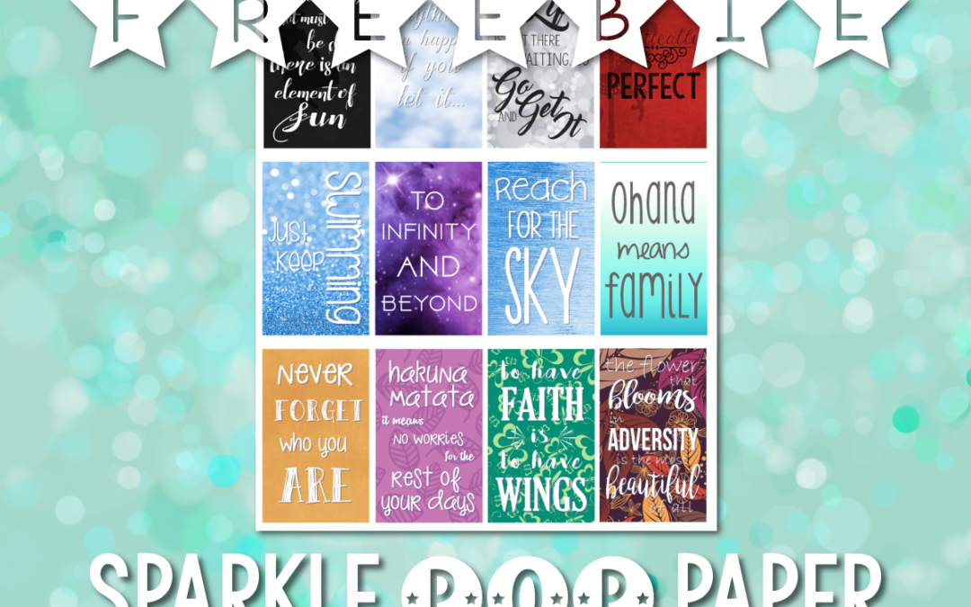 Freebie: Disney Quote Stickers for Happy Planner